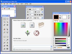 Greenfish Icon Editor Pro - Main window